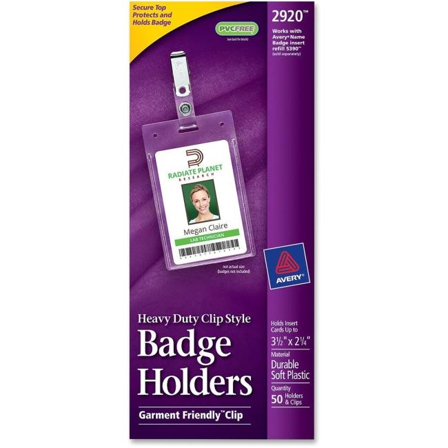 Avery Flexible Badge Holder 2920