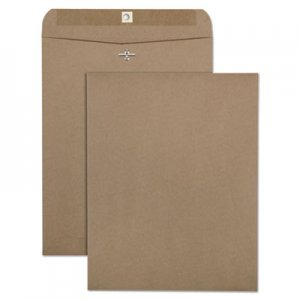 Quality Park 100% Recycled Brown Kraft Clasp Envelope, #97, Cheese Blade Flap, Clasp/Gummed Closure, 10 x 13, Brown Kraft