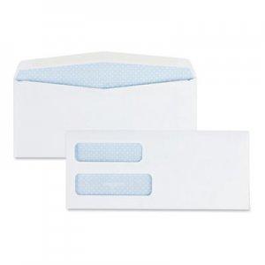 Quality Park 2-Window Security Tinted Check Envelope, #10, 4 1/8 x 9 1/2, White, 500/Box QUA24550