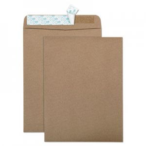 Quality Park 100% Recycled Brown Kraft Redi Strip Envelope, 9 x 12, Brown Kraft, 100/Box QUA44511