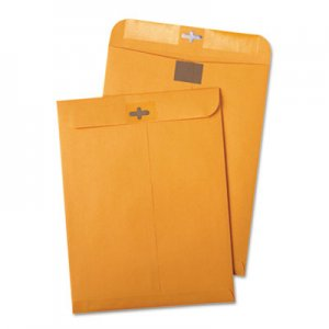 Quality Park Postage Saving ClearClasp Kraft Envelopes, 10 x 13, Brown Kraft, 100/Box QUA43768