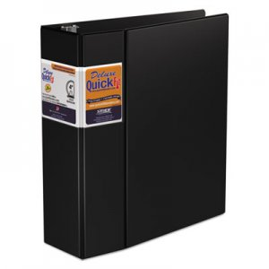 "Stride QuickFit D-Ring Binder, 3 Rings, 4"" Capacity, 11 x 8.5, Black STW29061 29061"