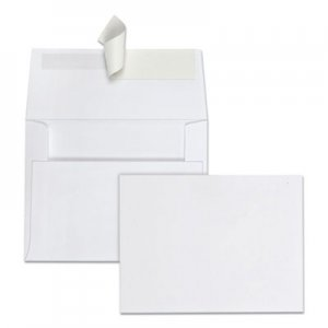Quality Park Redi Strip Greeting Card/Invitation Envelope, #5 1/2, White,100/BX QUA10740