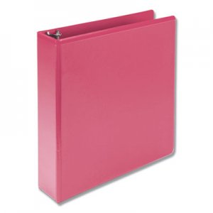 "Samsill Fashion View Binder, Round Ring, 11 x 8-1/2, 2"" Capacity, Berry, 2/Pack SAMU86676 U86676"