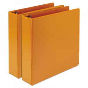 "Samsill Fashion View Binder, Round Ring, 11 x 8-1/2, 2"" Capacity, Coral, 2/Pack SAMU86673 U86673"
