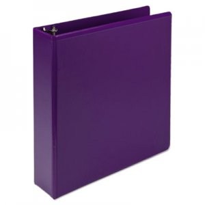 "Samsill Fashion View Binder, Round Ring, 11 x 8-1/2, 2"" Capacity, Purple, 2/Pack SAMU86608 U86608"