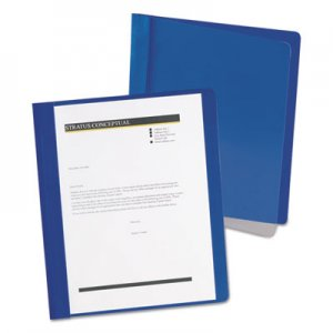 Oxford Extra-Wide Clear Front Report Covers, Letter Size, Dark Blue, 25/Box OXF5354023X 5354023X