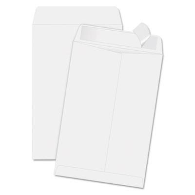 Quality Park Redi-Strip Catalog Envelope, 6 1/2 x 9 1/2, White, 100/Box 44334 QUA44334