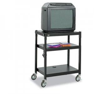 Safco Adjustable-Height Steel AV Cart, 27-1/4w x 18-1/4d x 28-1/2 to 36-1