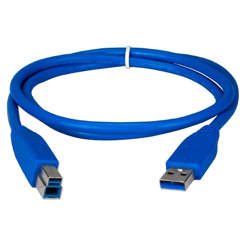 QVS USB 3.0 Compliant 5Gbps Type A Male to B Male Cable CC2219C-03