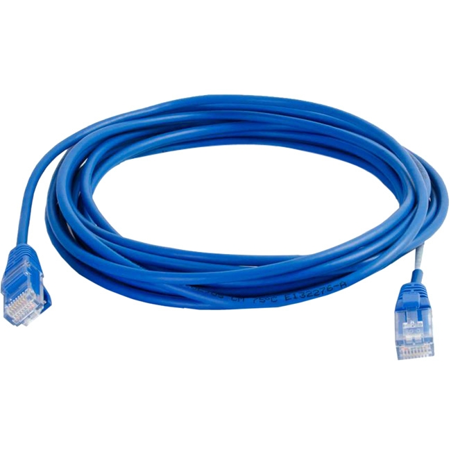 C2G 6in Cat5e Snagless Unshielded (UTP) Slim Network Patch Cable - Blue 01017