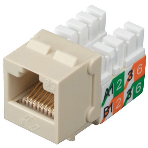 Black Box GigaBase2 CAT5e Jack, Universal Wiring, Red, 25-Pack FMT927-R2-25PAK