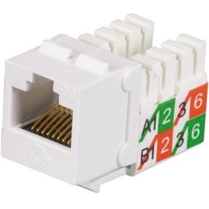 Black Box GigaBase2 CAT5e Jack, Universal Wiring, White, 25-Pack FMT929-R2-25PAK