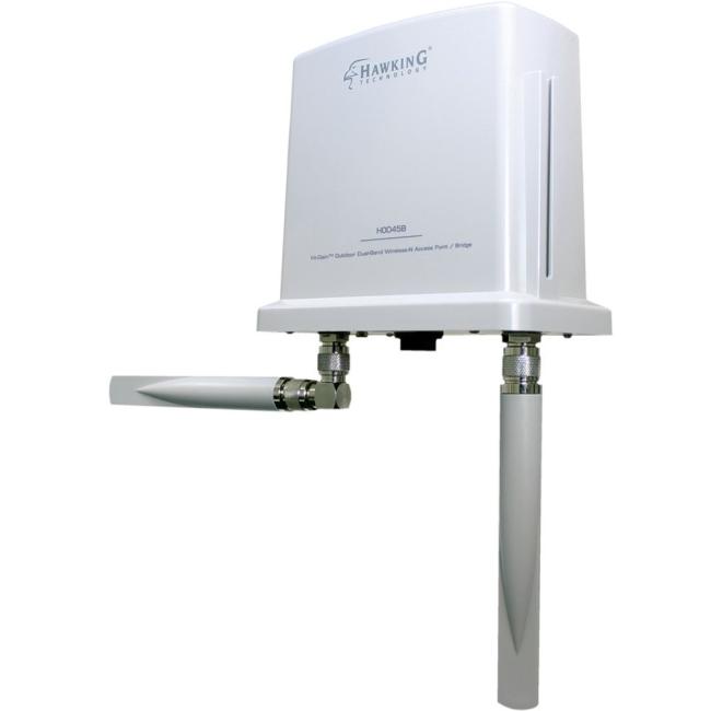 Hawking Hi-Gain Outdoor Dual Band Wireless-N Access Point/Bridge HOD45B