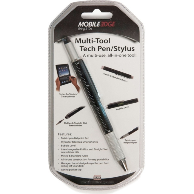 Mobile Edge Multi-Tool Tech Pen/Stylus (Black) MEASPM1