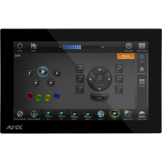AMX Landscape Wall Mount Touch Panel (no Microphone) FG5968-29 MXD-700-L-NC