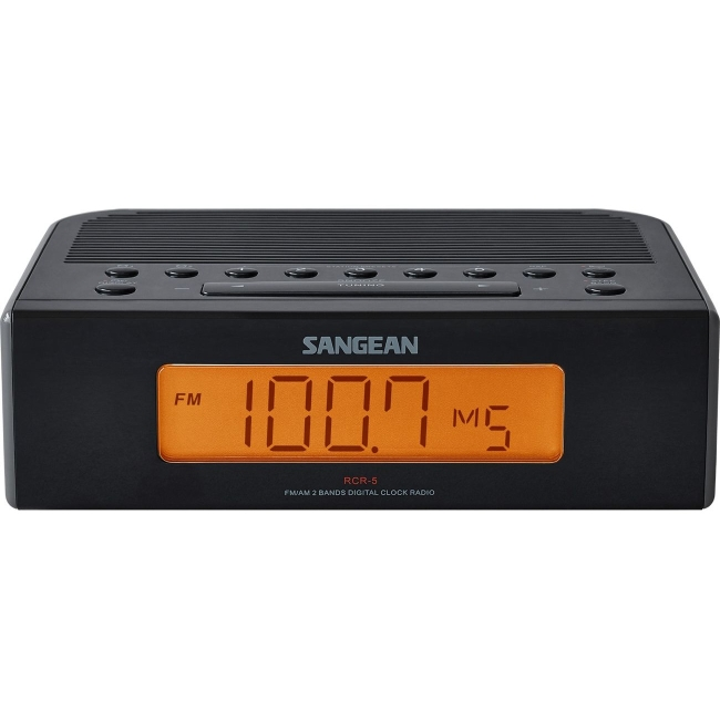Sangean FM / AM Digital Tuning Clock Radio RCR-5BK RCR-5