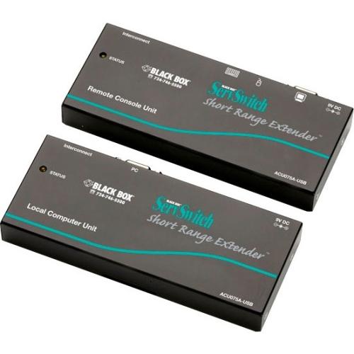 Black Box ServSwitch KVM Short-Range Extender Kit, USB ACU075A-USB