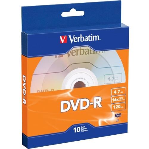 Verbatim DVD-R 4.7GB 16X 10pk Bulk Box 97957