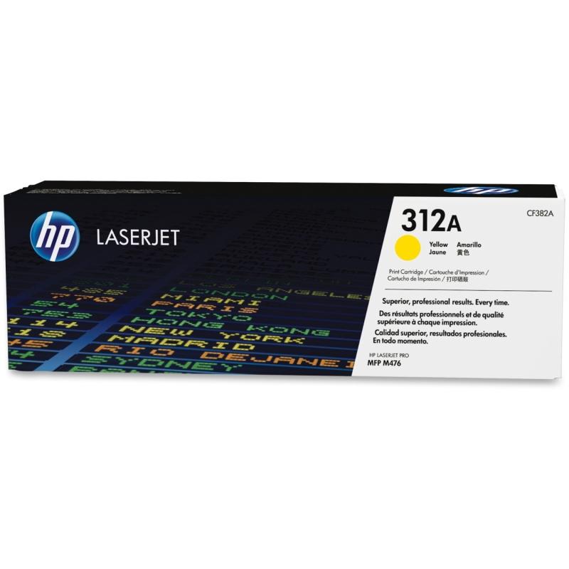 HP Yellow Original LaserJet Toner Cartridge CF382A HEWCF382A 312A