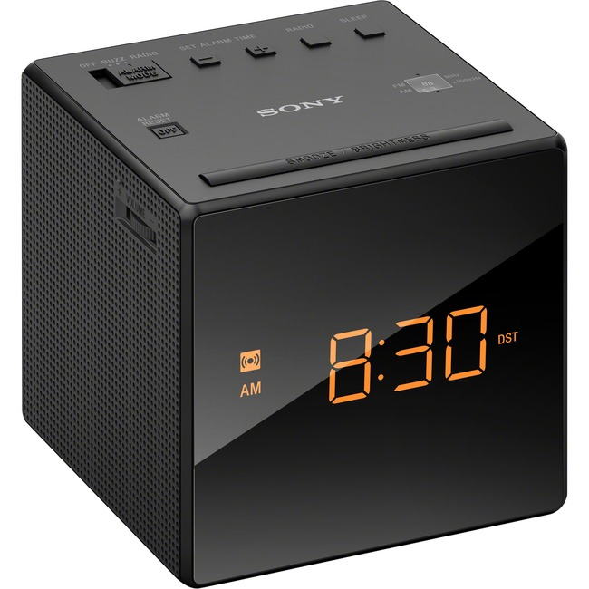 Sony Alarm Clock with FM/AM Radio ICFC1BLACK ICF-C1BLACK