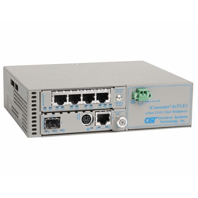 Omnitron Managed iConverter 4xT1/E1 MUX/M 8839N-0-C 8839N-0-x