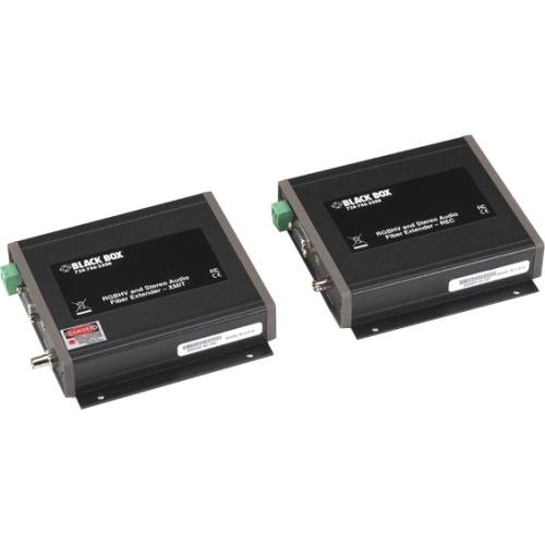 Black Box VGA/Stereo-Audio Fiber Extender Kit (AC1021A-XMIT and AC1021A-REC) AC1020A