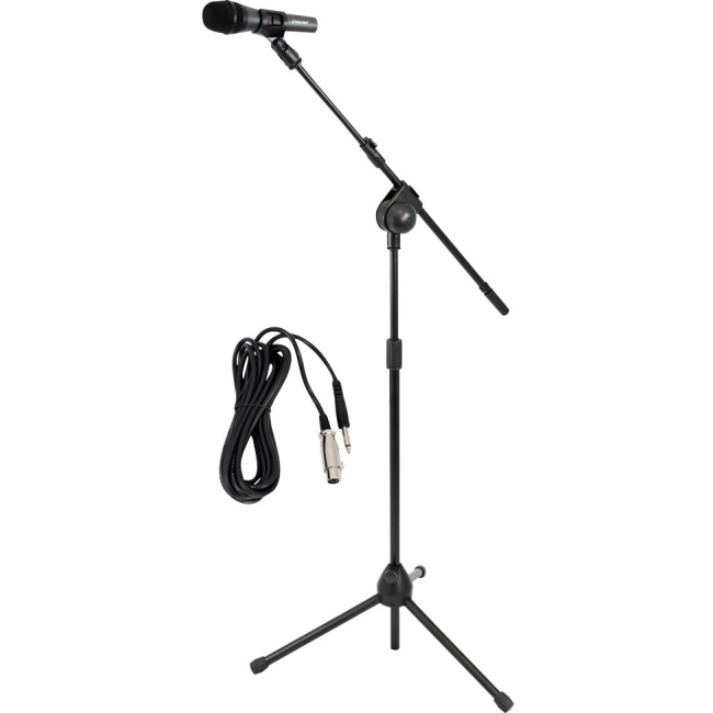 PylePro Microphone and Tripod Stand With Extending Boom & Mic Cable Package PMKSM20