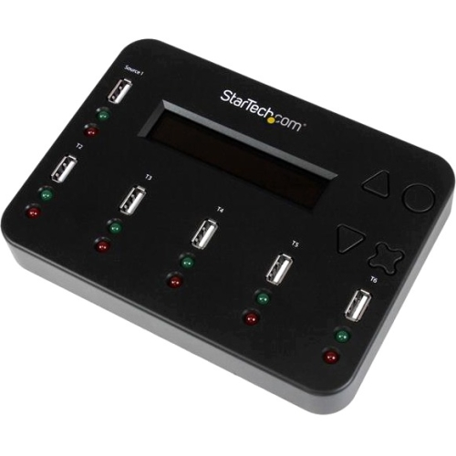StarTech.com Standalone 1:5 USB Flash Drive Duplicator and Eraser - Flash Drive Copier USBDUP15