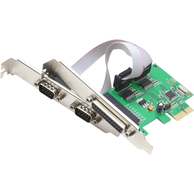 SYBA Multimedia 3-port (2x Serial; 1x Parallel) PCIe Serial/ Parallel Combo Controller Card SI-PEX50054