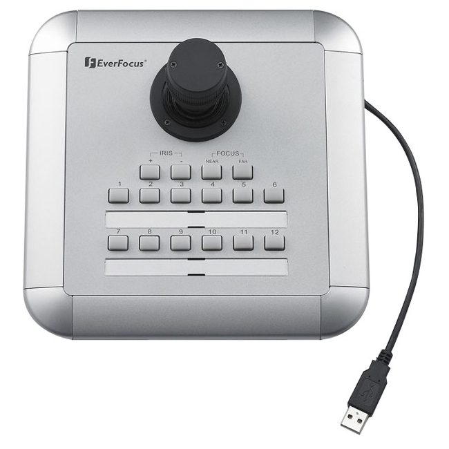 EverFocus USB Keyboard Controller with 3-Axis Joystick Control EKB200
