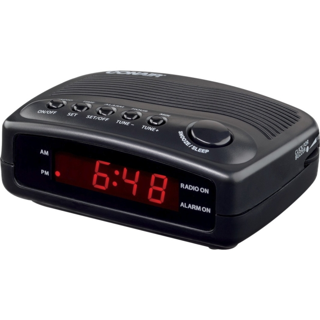 Conair Hospitality Clock Radio with Single Day Alarm WCR02