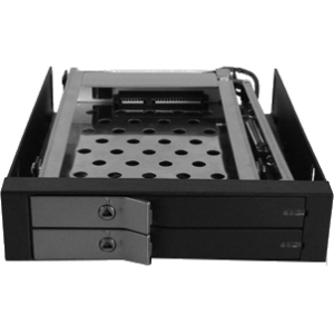 "Vantec EZ Swap EVO Dual Bay 2.5"" SATA SSD/ HDD Removable Rack MRK-225S6-BK"