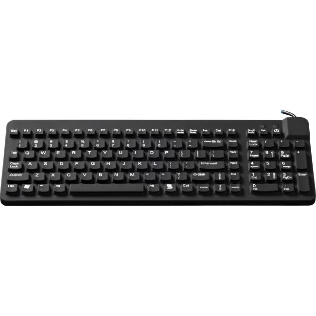 Man & Machine Premium Full Size Waterproof Disinfectable Keyboard RCLPMAGBKL/B5-LT