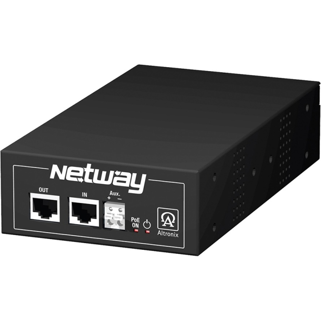 Altronix Single Port Hi-PoE Injector for Standard & Enhanced Power Network Infrastructure NETWAY1D