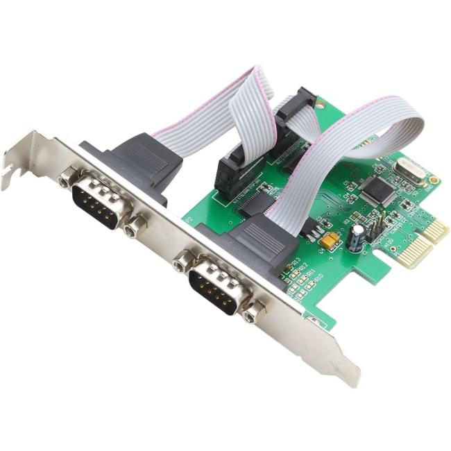 SYBA Multimedia 2-port Serial PCIe, x1, Revision 1.0a, (Full & Low Profile) SI-PEX15037