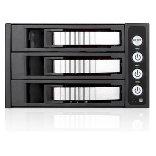 "iStarUSA 2x5.25"" to 3x3.5"" SAS/SATA 6.0 Gb/s Hot-Swap Cage BPU-230SATA-SILVER BPU-230SATA"