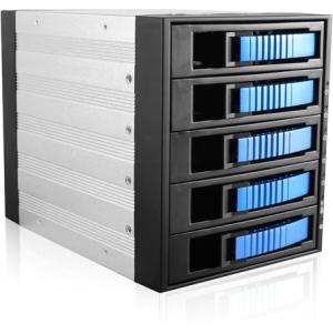 "iStarUSA 3x5.25"" To 5x3.5"" SAS/SATA 6.0 Gb/s Hot-Swap Cage BPU-350SATA-SILVER BPU-350SATA"