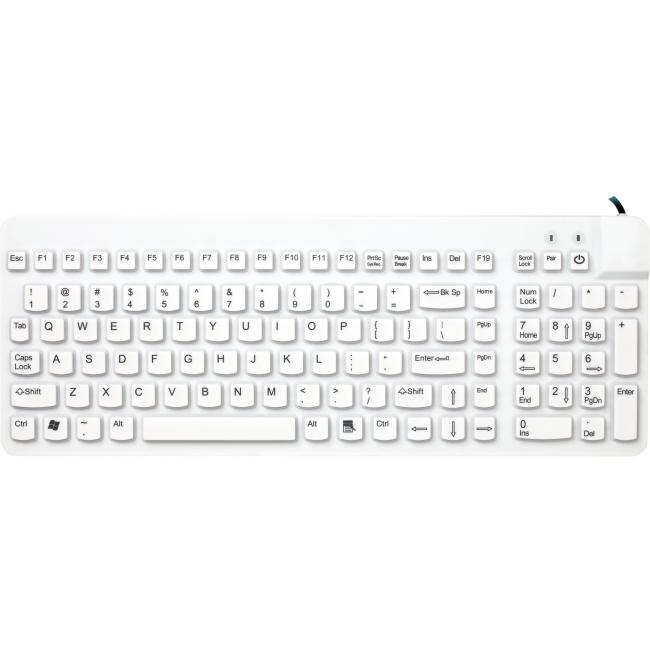 Man & Machine Premium Full Size Waterproof Disinfectable Keyboard ECOOL/R5-LT