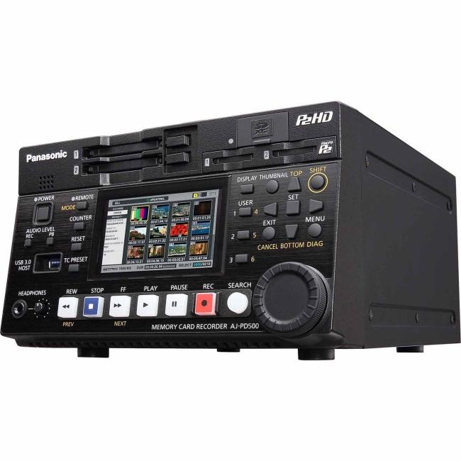 Panasonic Half-Rack P2 HD Recorder with native AVC-ULTRA Recording AJ-PD500