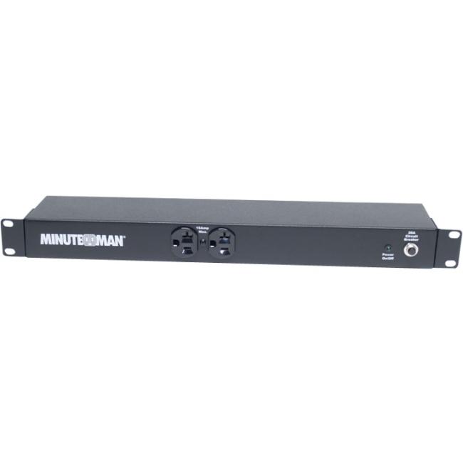 Minuteman 10-port, 110V/16A, 1U/0U Mount, Locking OEPD1020HVL