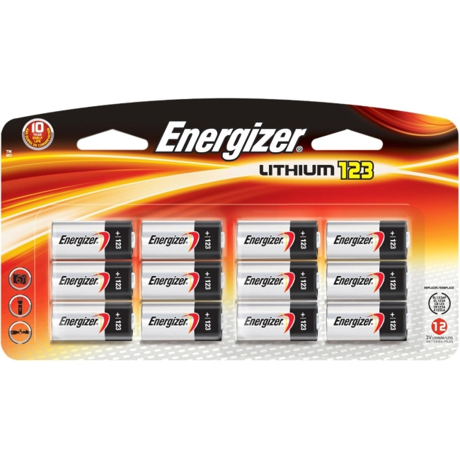 Energizer Lithium General Purpose Battery EL123BP-12 EL123BP