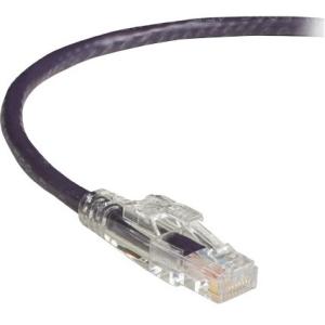 Black Box GigaBase 3 CAT5e 350-MHz Lockable Patch Cable (UTP) - Violet, 7-ft. (2.1-m) C5EPC70-VT-07