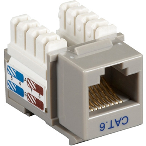 Black Box CAT6 Value Line Keystone Jack, Gray, 5-Pack CAT6J-GY-5PAK