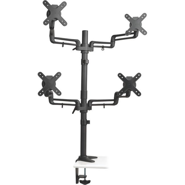 "Tripp Lite Quad Full-Motion Flex Arm Desk Clamp for 13"" to 27"" Flat-Screen Displays DDR1327SQFC"