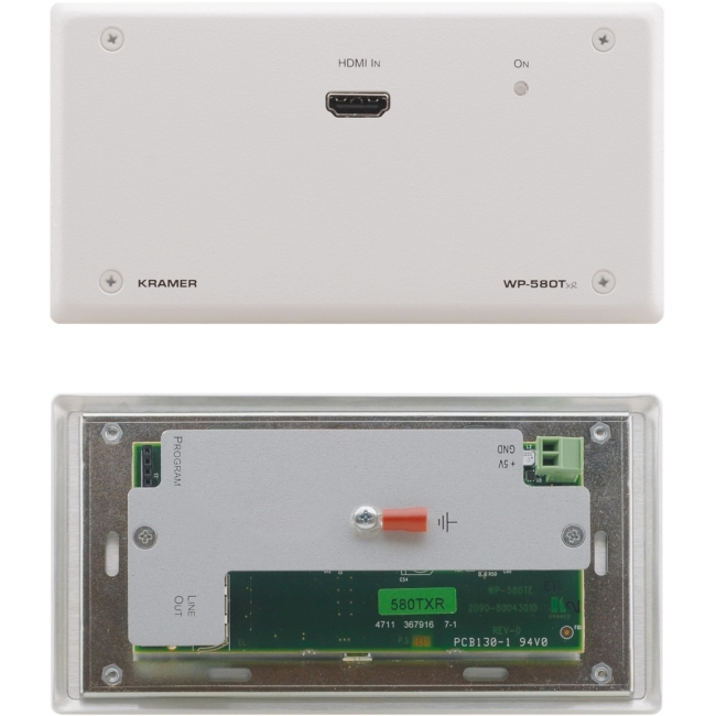 Kramer Active Wall Plate  HDMI over Extended Range HDBaseT Twisted Pair Transmitter WP-580TXR