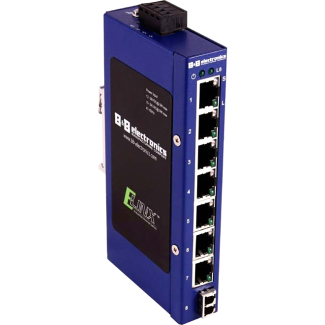 B+B Elinx Ethernet Switch ESW108-SL