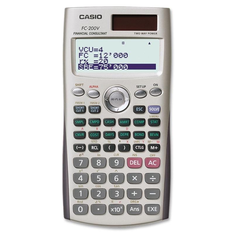 Casio FC200V Financial Calculator FC-200V CSOFC200V
