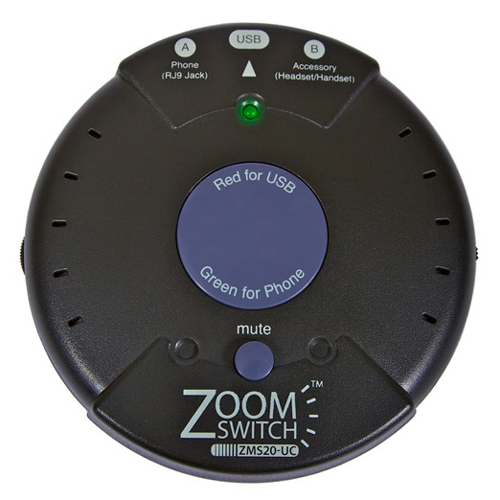 ZoomSwitch Headset Adapter for Phone and PC with Vol. and Mute ZMS20-UC