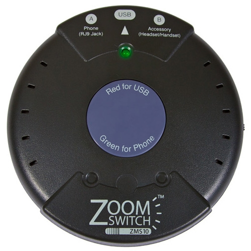 ZoomSwitch Headset Adapter for Phone and PC ZMS10-C ZMS10